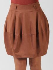 0553-6 юбка коричневая