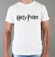 Футболка с принтом Гарри Поттер (Harry Potter/ Гриффиндор, Слизерин, Когтевран, Пуффендуй) белая 0010