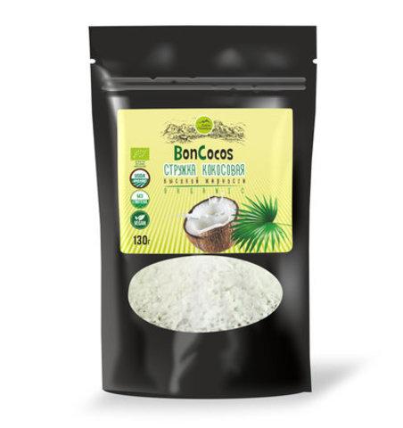 Стружка кокосовая выс./жир. BONKOKOS Шри Ланка 130гр