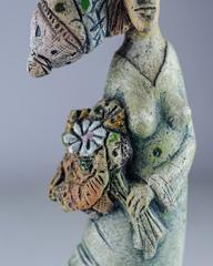 Скульптура из шамотной глины «Атмосфера весны», 32х15 см, Falco Ceramic