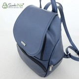 Сумка Саломея 502 металлик синий (рюкзак)