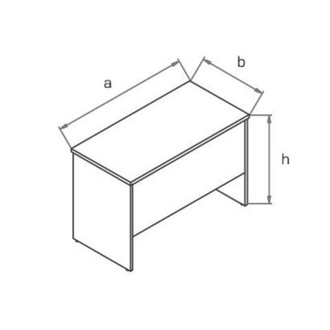 Стол-приставка BP (1000х500) МОНО-ЛЮКС