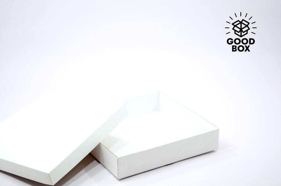 Крафт коробка с мелованной крышкой купить в Казахстане