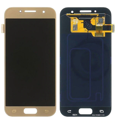 LCD SAMSUNG A3 2017 A320F + Touch Gold (TFT Backlight Adjustment) MOQ:10