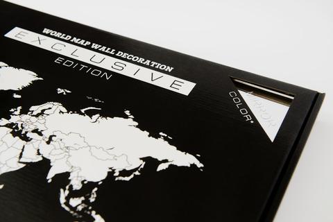 World Map Wall Decoration EXCLUSIVE Mirror edition (Зеркальная карта мира)