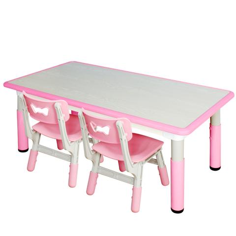 Пластиковый регулируемый прямоугольный стол + 2 стула