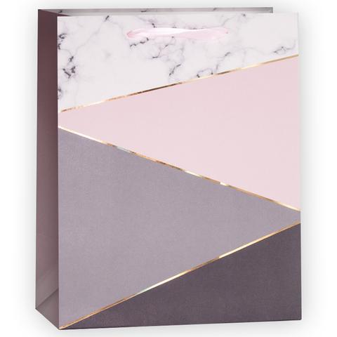 Пакет подарочный, Абстракция, Розовый, 23*18*10 см, 1 шт.