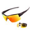 Очки солнцезащитные XQ514, (чёрный глянец  / зеркальные revo) +2 доп. линзы