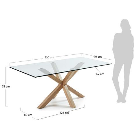 Стол Arya 160x90 металл стекло