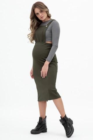 Сарафан для беременных 10336 хаки