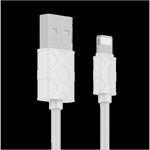 Кабель Baseus для Lightning - USB серия YAVEN | 1м белый с текстурой