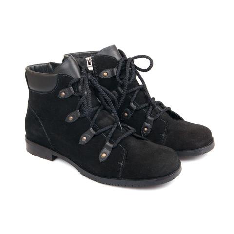 557370 Ботинки женские черные. КупиРазмер — обувь больших размеров марки Делфино