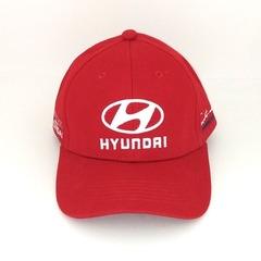 Кепка с вышитым логотипом Хендай (Кепка Hyundai) красная