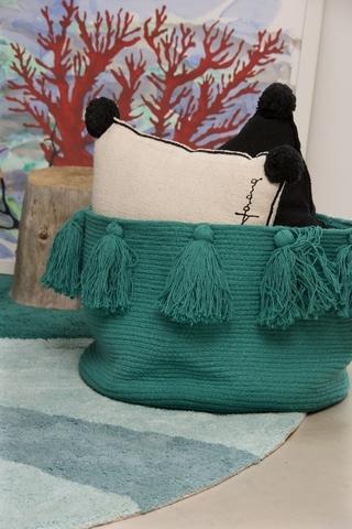 Корзина Lorena Canals Tassels Emerald (30 x Ø45 см)