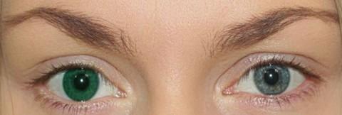 Оттеночные зелёные линзы для Светлых глаз Marquise Solo green