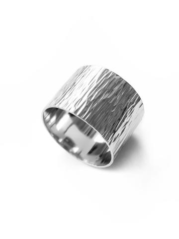 Серебряное рифленое кольцо 14мм