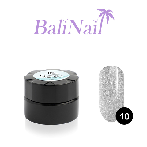 Гель-краска для тонких линий TNL Voile №10 паутинка (серебряная), 6 мл.