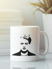Кружка с рисунком Фрида Кало (Frida Kahlo) белая 001