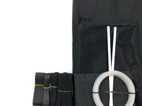 Набор Прозрачный подгрудный корсет, черный