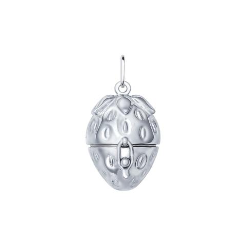 Подвеска из серебра в форме клубники