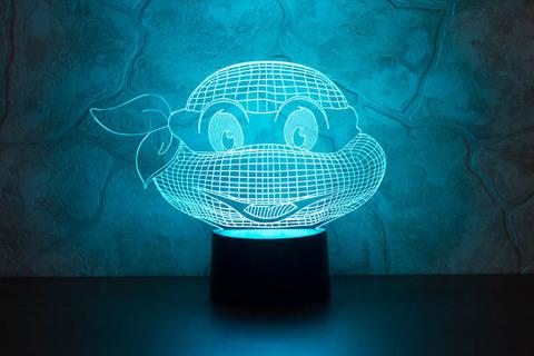 3D светильник Черепашка-ниндзя