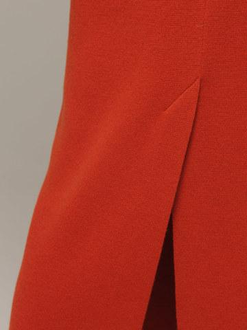 Женская оранжевая юбка с разрезом из 100% кашемира - фото 3