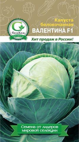 Семена Капуста б/к Валентина F1 (ТСХА) 50 сем