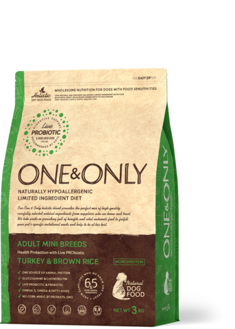 One&Only Adult Mini Breeds Turkey & Brown Rice