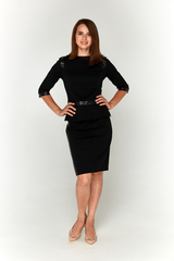 Черный костюм Lolly из блузки и юбки