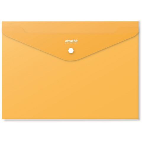Папка-конверт на кнопке Attache Selection Crocus А4 0.18 мм (6 штук в упаковке)