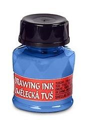 Тушь индийская 20г, церулеум синий 2405, флакон