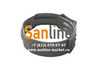 Кольцо обжимное 25мм Sanline Lite нержавеющее c защелкой