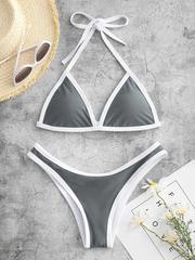 купальник раздельный бикини спортивный серый 1