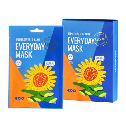 Dearboo Sunflower & Aloe Everyday Mask успокаивающая маска для лица с экстрактом подсолнуха и алоэ