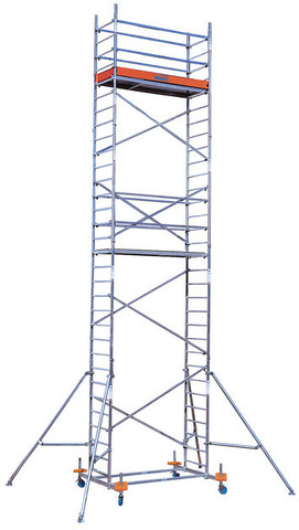 Алюминиевая вышка-тура KRAUSE PROTEC рабочая высота 6,3 м