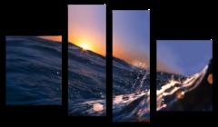 "Модульная картина ""Волна океана"""