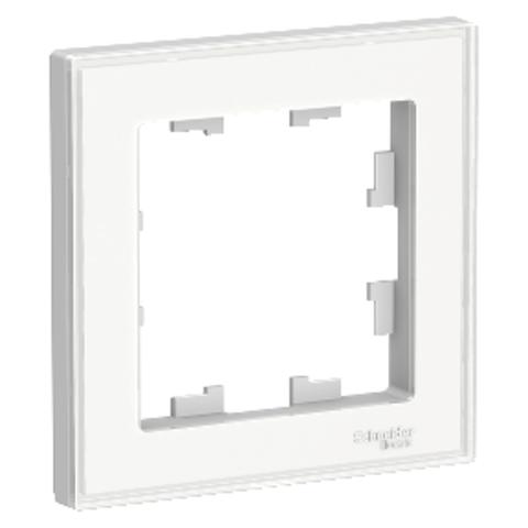 Рамка на 1 пост. Цвет Белый. Schneider Electric AtlasDesign. ATN200101