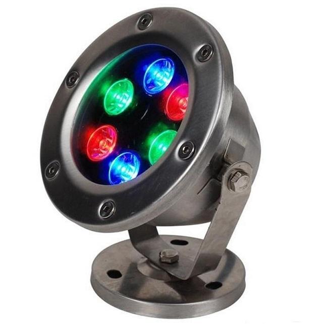 LED Подсветка, комплект: RGB 6Вт (нерж.) х 2шт. + транс. DC12/30W + пульт