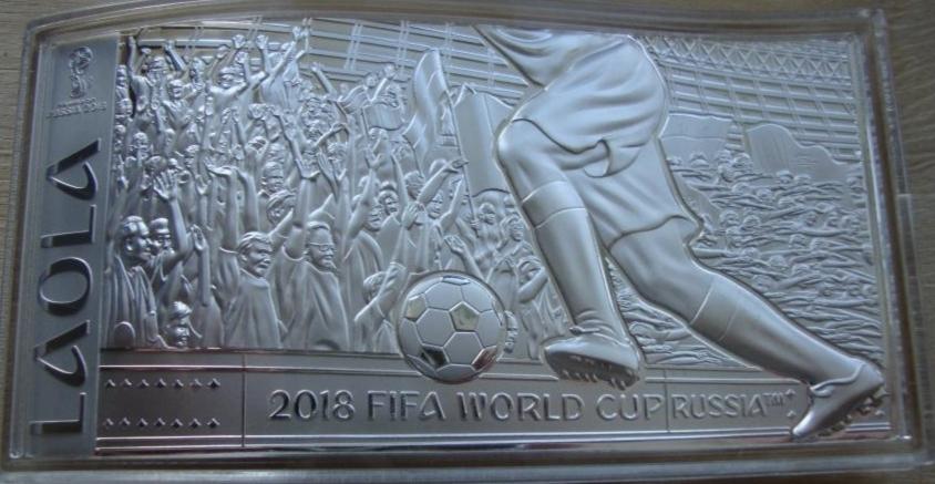 10 долларов. Чемпионат мира по футболу в России. Соломоновы о-ва. Серебро. 2018 год