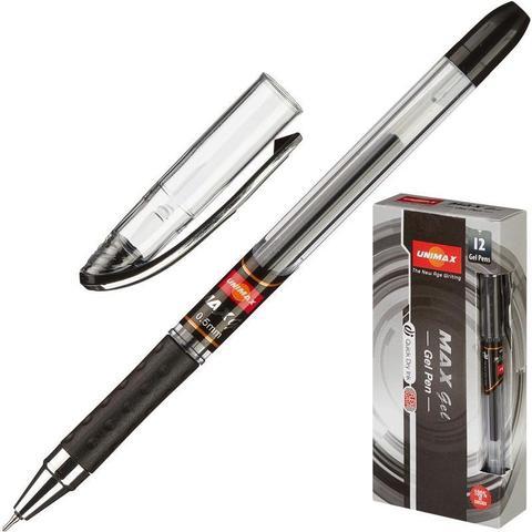 Ручка гелевая Unimax Max Gel черная (толщина линии 0.3 мм)