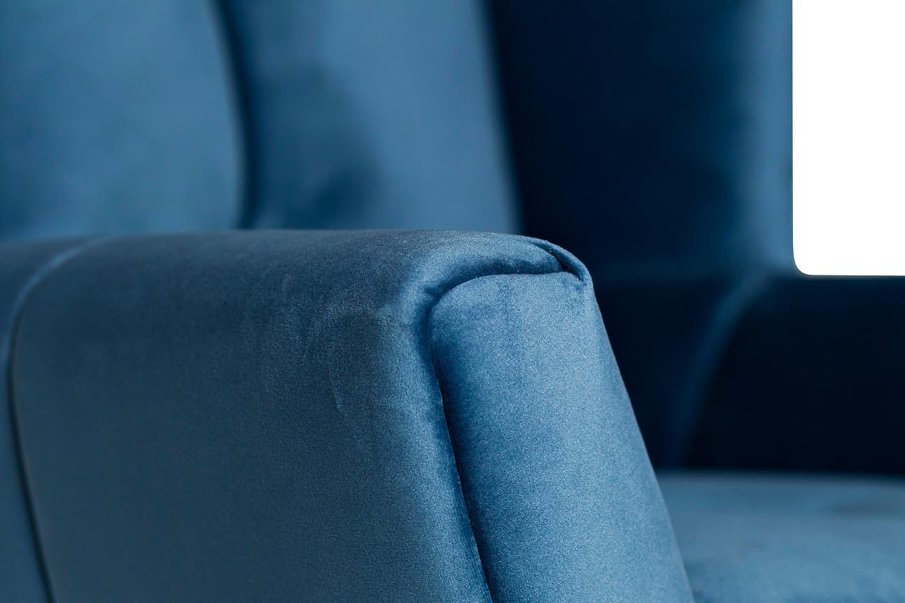 Кресло вращающееся синее велюровое (ZW-868 BLU SS) Garda Decor