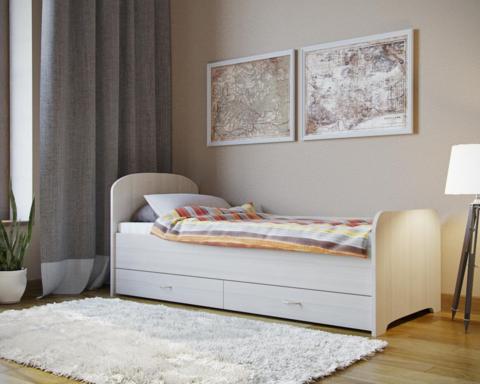 Кровать односпальная с ящиками ЛДСП