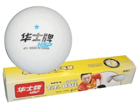 Шарики для настольного тенниса 1* HP. Размер. 40 мм. Количество штук в упаковке - 6. Материал: ABS пластик.  ABS-047