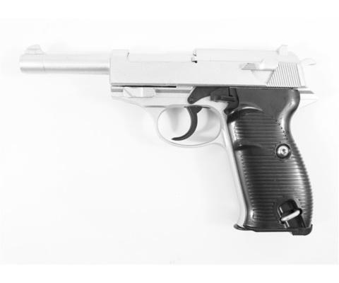 Страйкбольный пистолет Galaxy G.21S  Walther P-38 металлический, пружинный