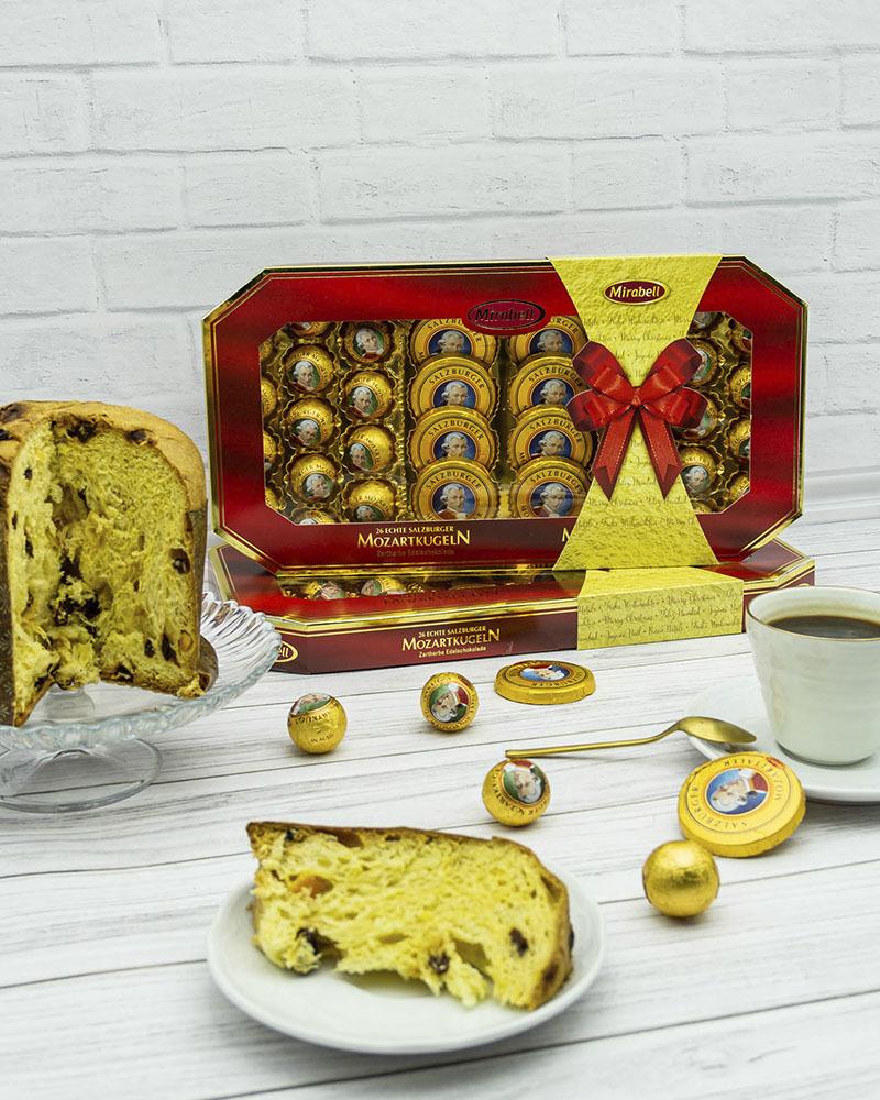 Конфеты Mirabell из Молочного Шоколада с Начинкой из Пралине и Марципана 600 гр.