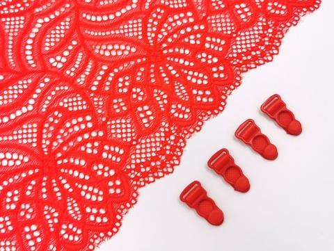 Чулкодержатель (без атласной ленты), пластик. Красный, 10мм, ШТ
