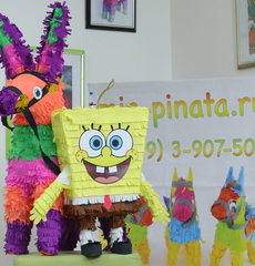 Пиньята Губка-Боб