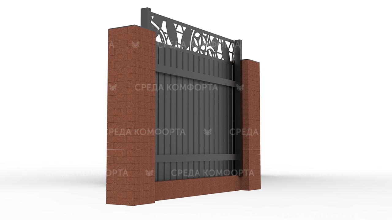 Забор из профлиста 2500х2000 мм ZBR0020