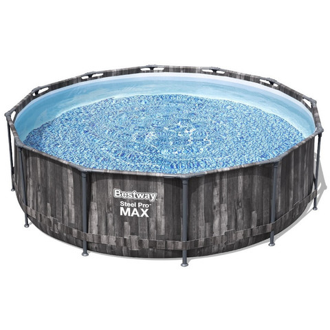 Каркасный бассейн Bestway Wood Style 5614Z (427х107 см) с картриджным фильтром, тентом и лестницей / 25304