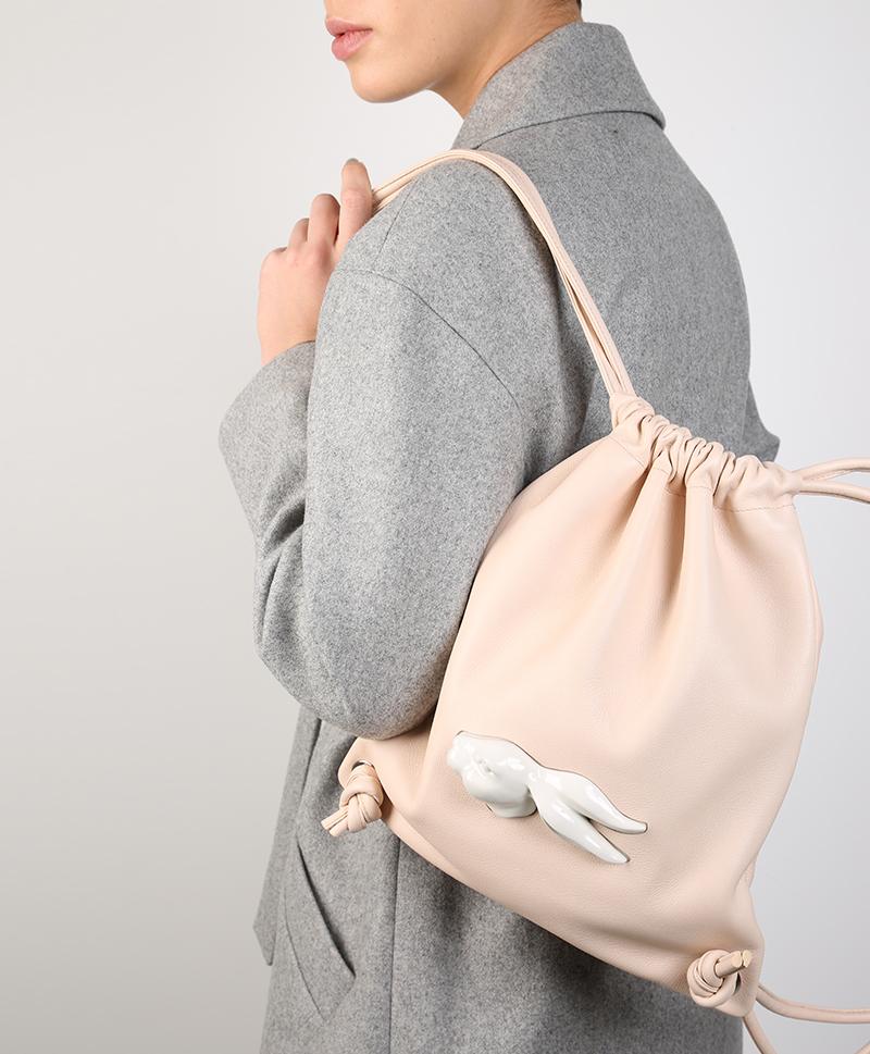 Рюкзак из кожи  Rabbit Head Nude
